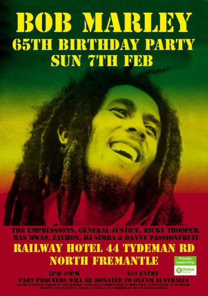 bob marley birthday party