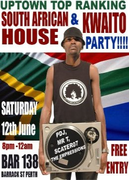 uptown top raning south african house and kwaito party