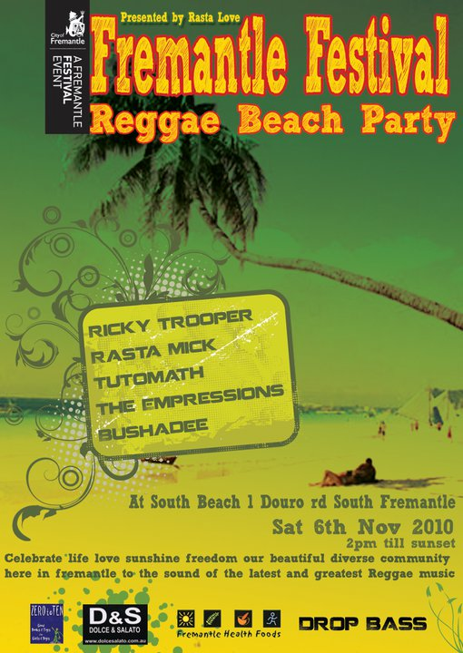 fremantle festival reggae beach party